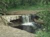 Водопад на речке Саблинка. 2000 год.