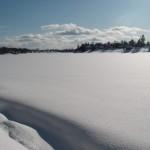 Река Сясь в зимнем убранстве