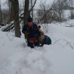 Все завалено снегом