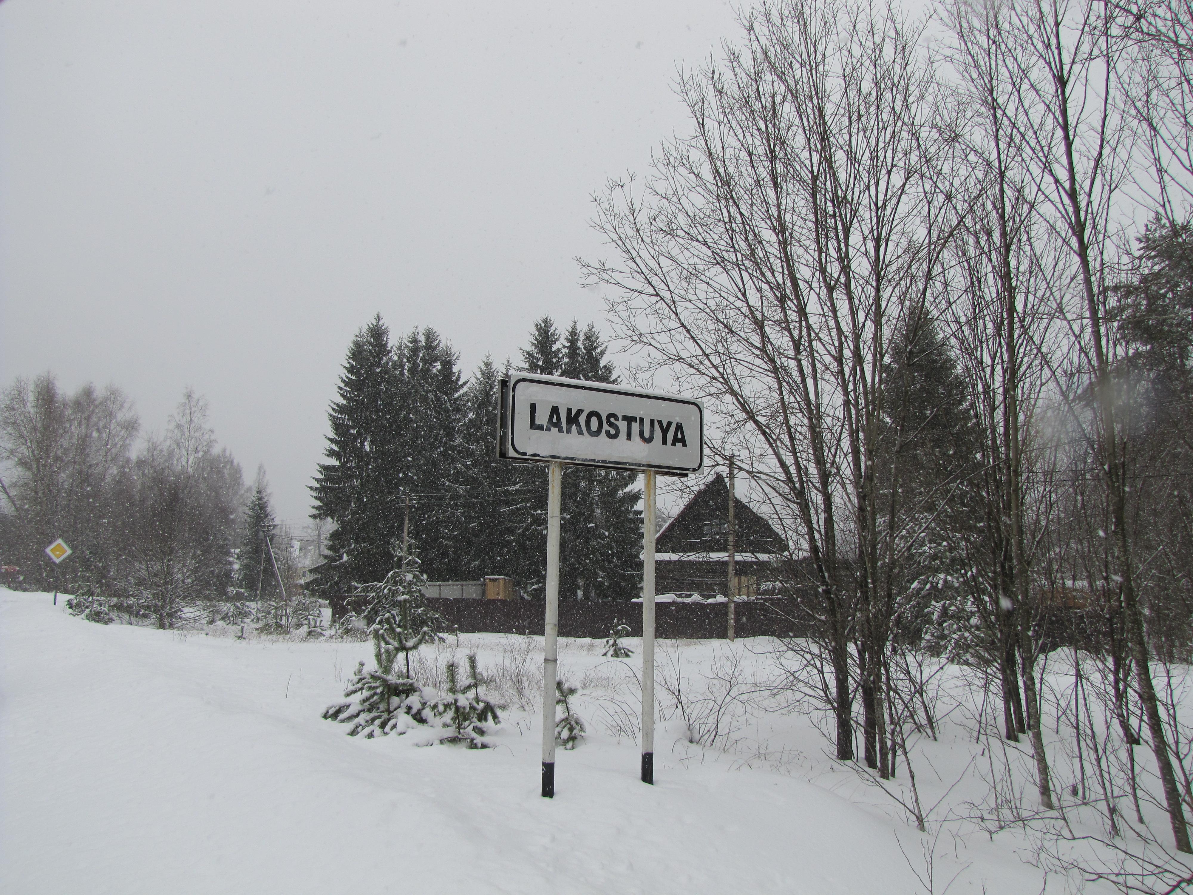Странный дорожный знак на въезде в д. Костуя.