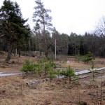 Зачищенная территория бывшего пионерлагеря.