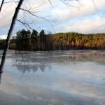 Озеро Длинное на закате.