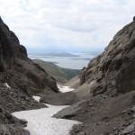 Перевал Юмъекорр, вид на запад.