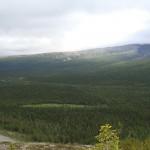 Вид с перевала Куропачий на долину реки Тульйок.
