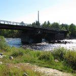 Пешеходный мост, вид с левого берега.