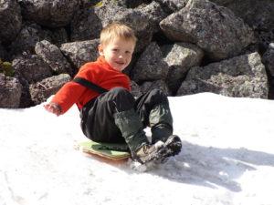Первый снежник на пути.