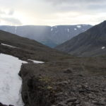 Северный Рисчорр, вид на запад от входа в ущелье.